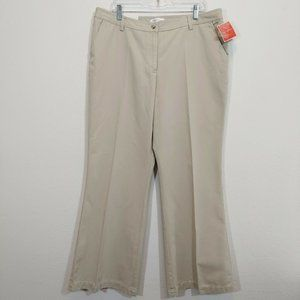 ISAAC MIZRAHI Womens Khaki Canvas Pants